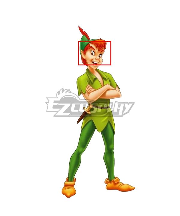 Peter Pan Adult Men  Green Carnival Party Orange Cosplay Wig