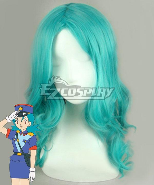 Pokémon Officer Jenny Green Cosplay Wig