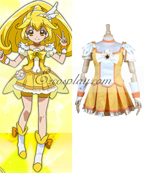 Pretty Cure Smile PreCure Kise Yayoi Cure Peace Cosplay Costume