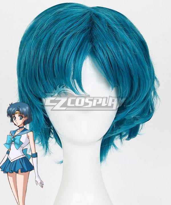Sailor Moon Mizuno Ami Amy Anderson Sailor Mercury Blue Cosplay Wig