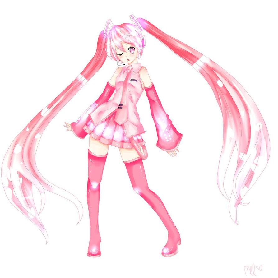 Vocaloid Sakura Miku Cosplay Costume