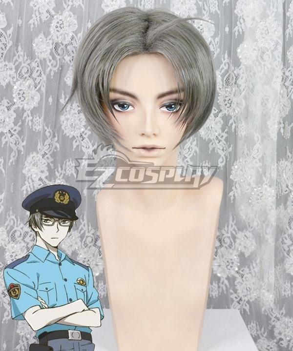 Sarazanmai Mabu Akutsu Gray Cosplay Wig