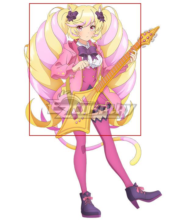 SHOW BY ROCK!! Mashumairesh!! Mashimahimeko Golden Pink Cosplay Wig