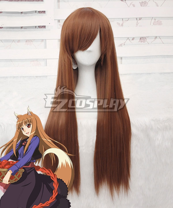 Spice and Wolf Ookami to Koushinryou Holo Brown Cosplay Wig