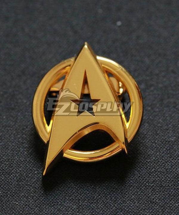 Brooch | Screen | Badge | Trek | Prop | Star | Gold | Pin