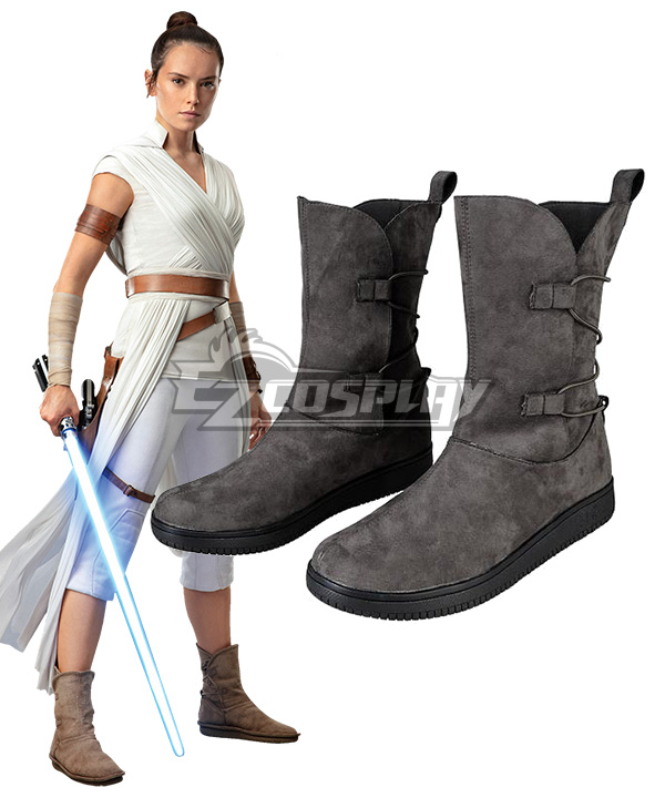 Star Wars Rey Brown Boots Cosplay Shoes Customized Size