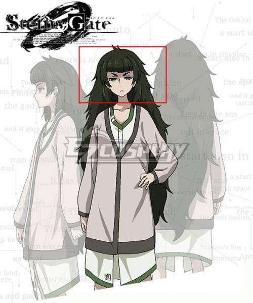 Steins;Gate Steins Gate Zero Maho Hiyajo Black Green Cosplay Wig
