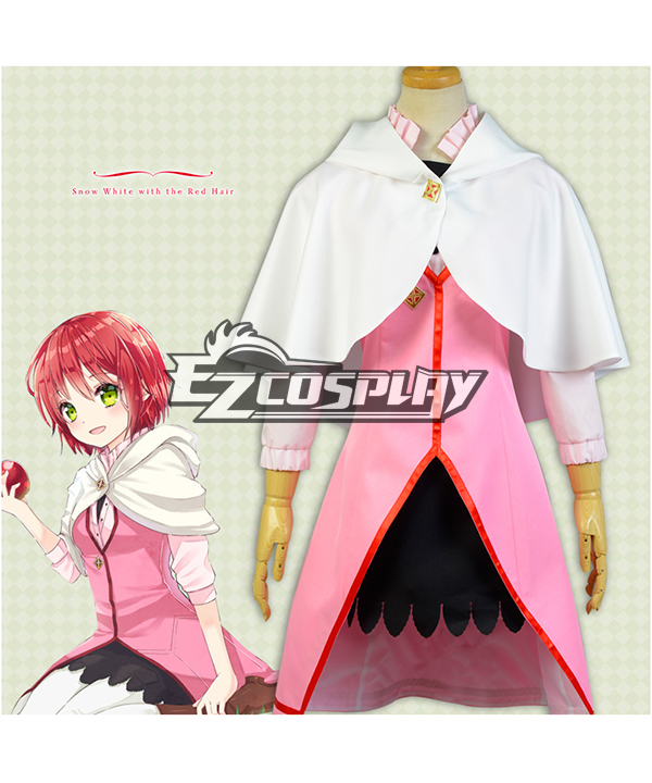 Snow White with the Red Hair Akagami no Shirayukihime Shirayuki pink Cosplay Costume