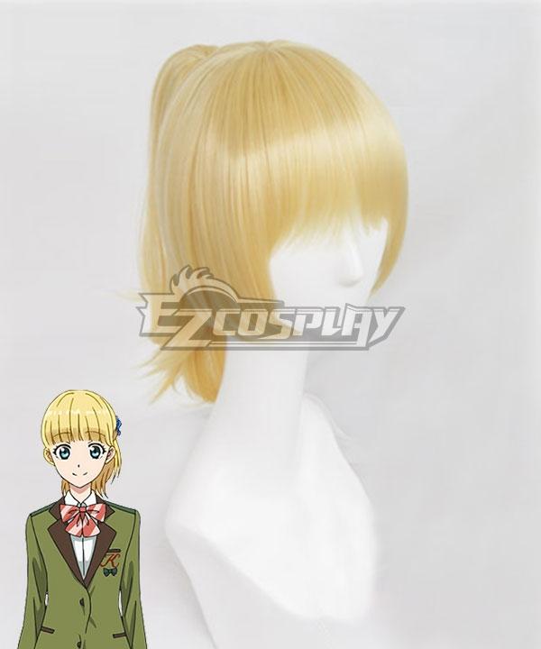 Tada Never Falls in Love Tada-kun wa Koi wo Shinai Teresa Wagner Golden Cosplay Wig