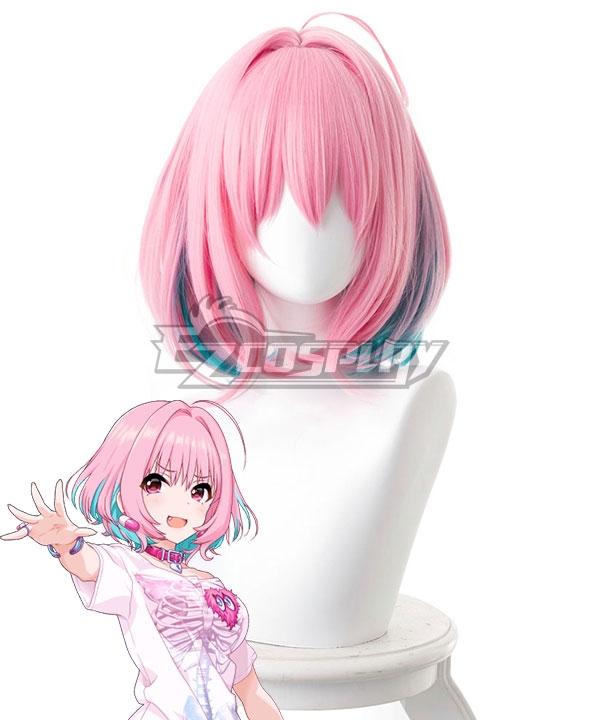 The Idolm@Ster: Cinderella Girls Riamu Yumemi Gradient Pink Green Cosplay Wig - 383D