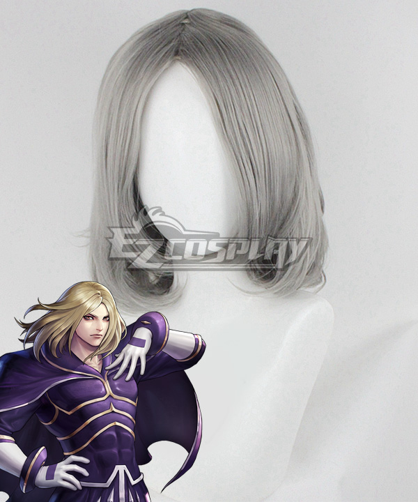 The King Of Fighters 2001 KOF Igniz Grey Cosplay Wig