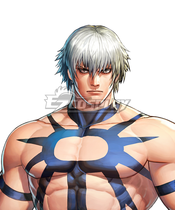 The King Of Fighters 97 KOF Orochi Silver Cosplay Wig