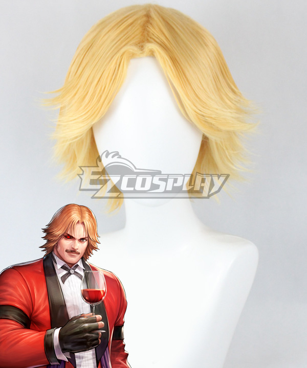 The King of Fighters Rugal Bernstein Golden Cosplay Wig