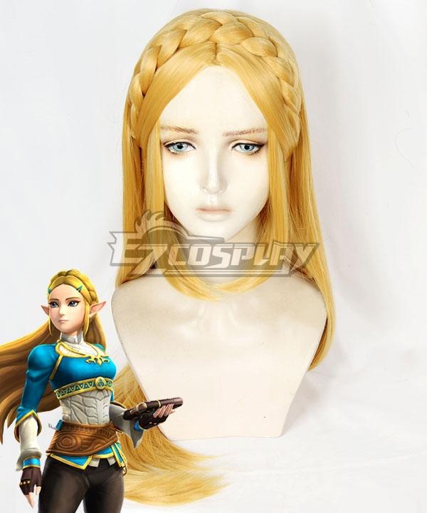 The Legend Of Zelda: Breath Of The Wild Princess Zelda Golden Yellow Cosplay Wig