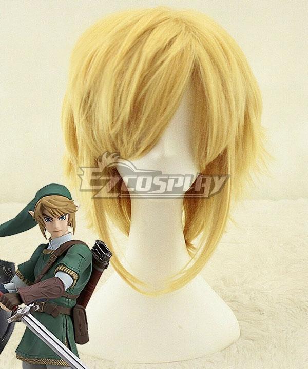 The Legend of Zelda Zeruda no Densetsu Link Golden Cosplay Wig