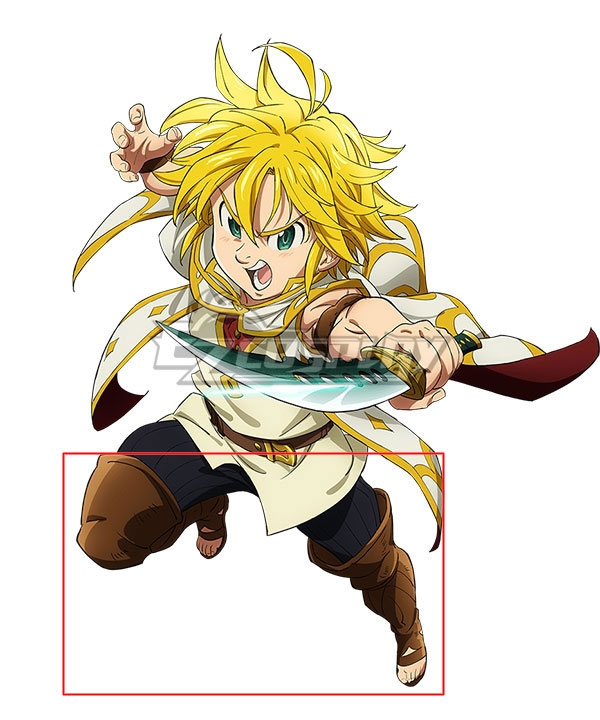 The Seven Deadly Sins Meliodas Suit Cosplay Costume Shoes Boots With Bag