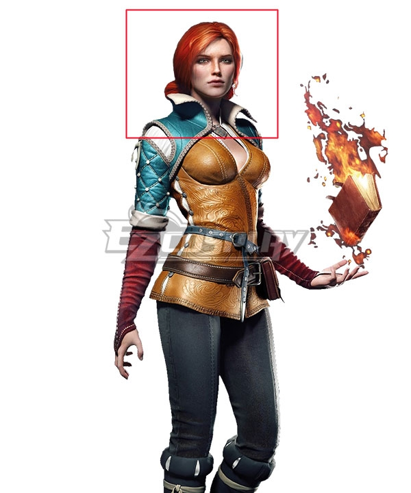 The Witcher 3 Triss Merigold Orange Cosplay Wig