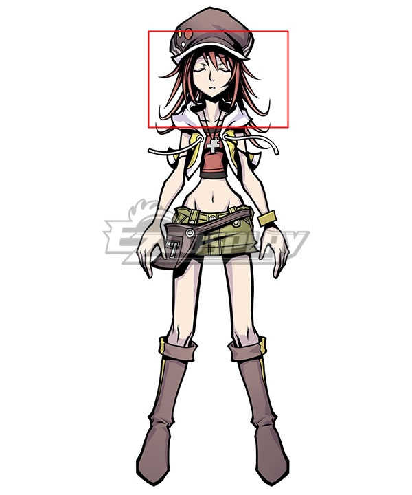 The World Ends With You: Final Remix Shiki Misaki Red Cosplay Wig