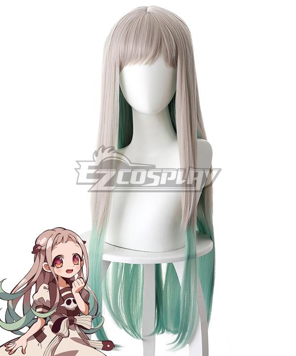 Jibaku Shounen Hanako-Kun Toilet-bound Hanako-kun Yashiro Nene Sliver Grey Shade into Green Cosplay Wig - 497A
