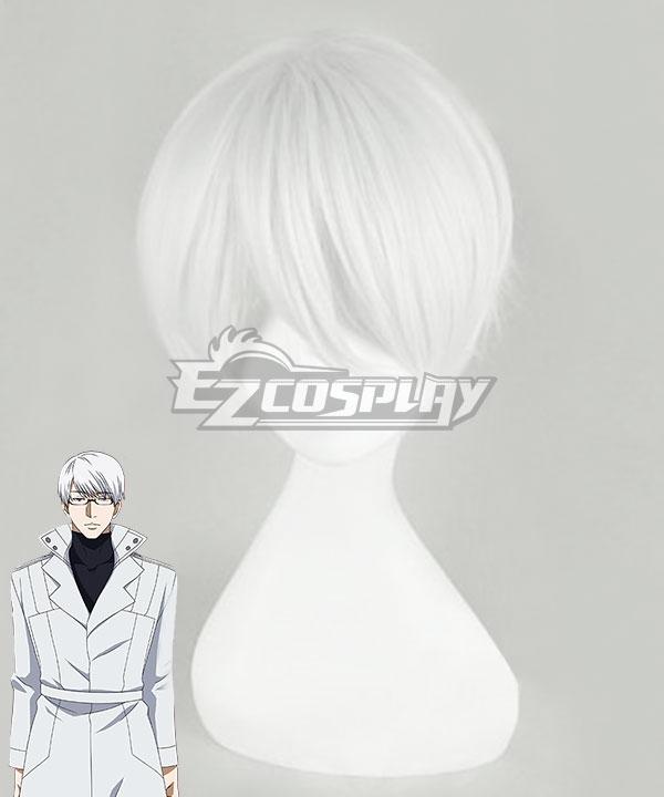 Tokyo Ghoul Kishou Arima Sliver White Cosplay Wig
