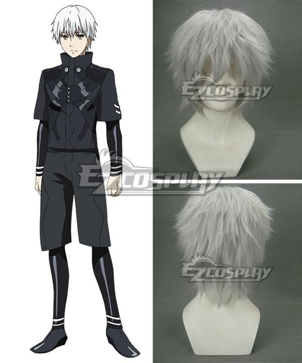 Tokyo Ghoul Tokyo Guru √A Kaneki Ken Silver gray Cosplay Wig 053B