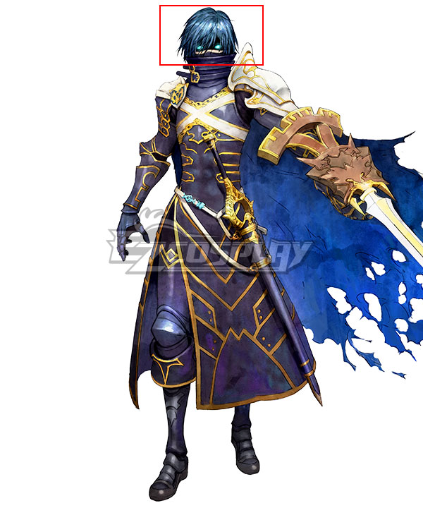 Tokyo Mirage Sessions ♯FE Chrom Blue Cosplay Wig