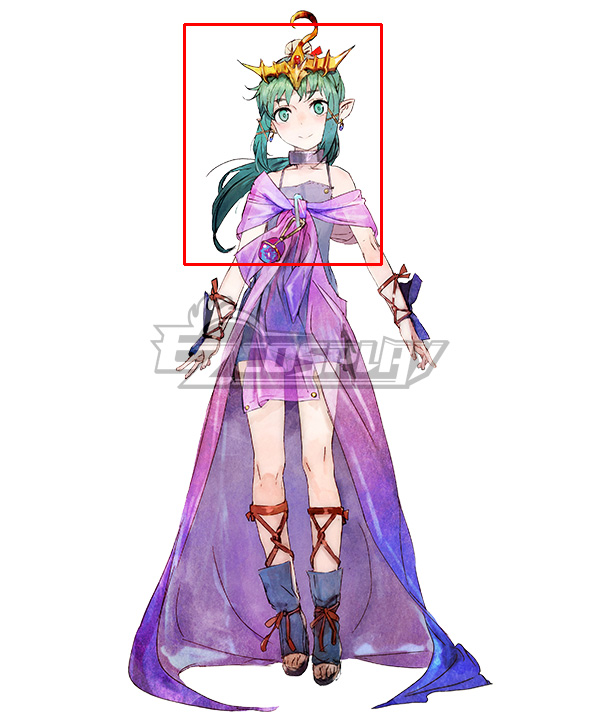 Tokyo Mirage Sessions FE Tiki Green Cosplay Wig