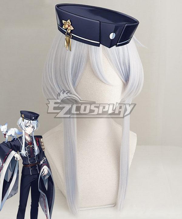 Touken Ranbu Online Hakusan Yoshimitsu Light Blue White Cosplay Wig - Only Wig