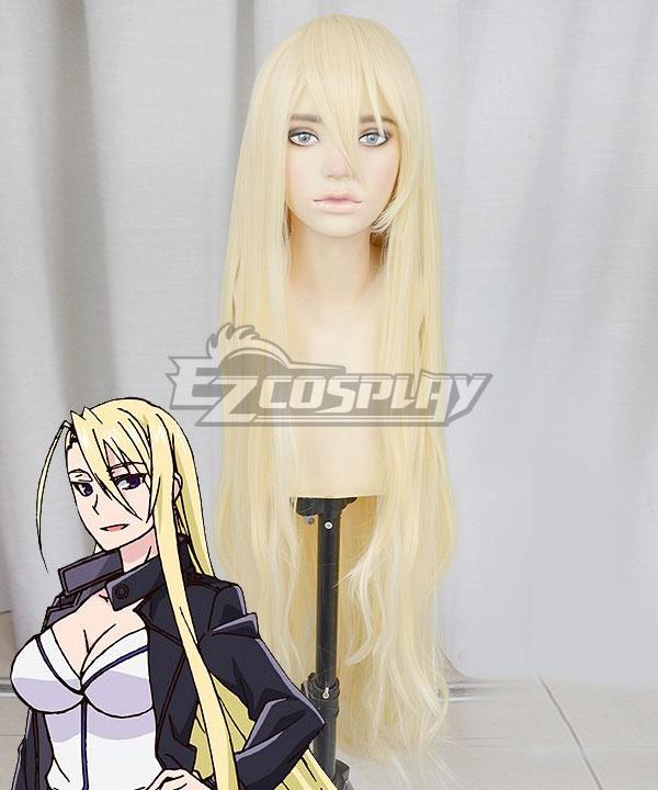 UQ Holder! Evangeline A.K. McDowell Yukihime Golden Cosplay Wig