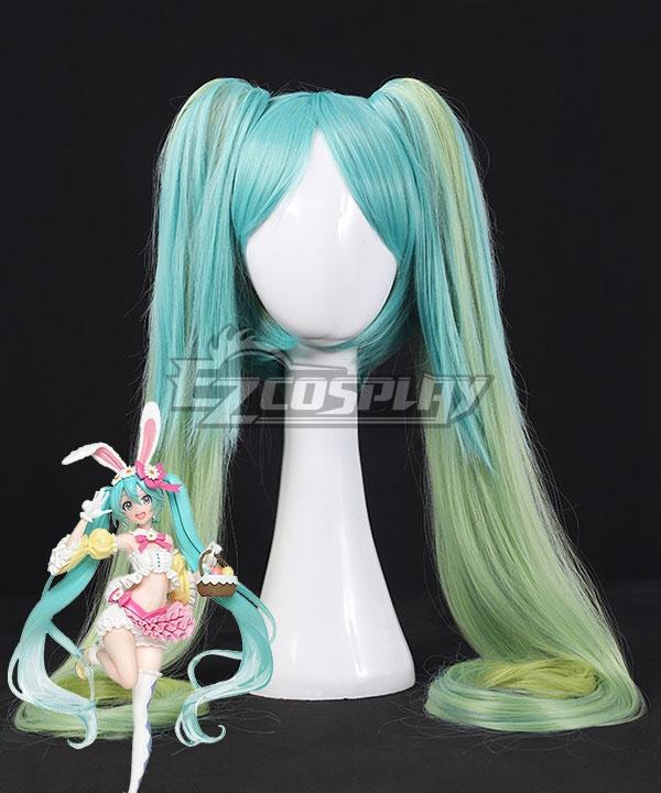 Vocaloid Hatsune Miku 2nd Season Spring Ver. Blue Green Cosplay Wig
