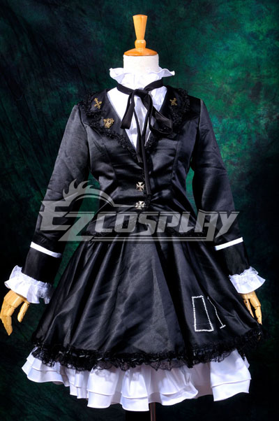 Vocaloid Hatsune Miku Secret Police Lolita Cosplay Costume