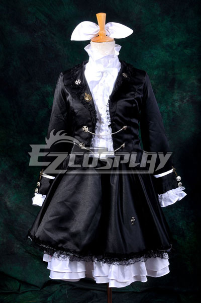 Vocaloid Kagamine Rin Secret Police Lolita Cosplay Costume