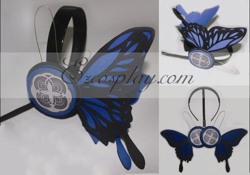 Vocaloid Kaito Copslay Bule Prop Headset