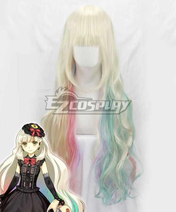 Vocaloid Mayu White Golden Cosplay Wig