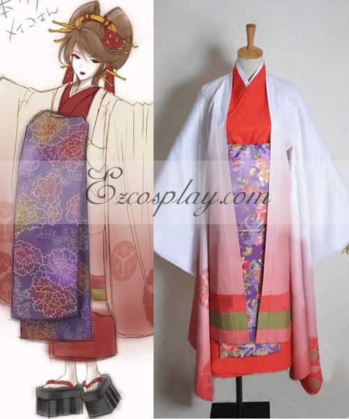 Vocaloid Thousand Cherry Tree Meiko Geisha Cosplay Costume