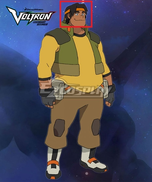 Voltron: Legendary Defender Hunk Black Cosplay Wig