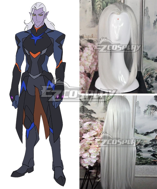 Voltron: Legendary Defender Lotor White Cosplay Wig
