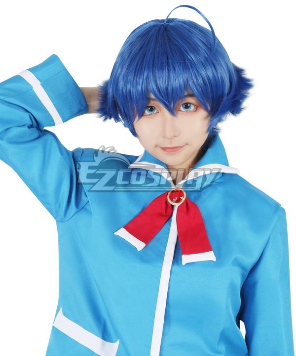 Welcome to Demon School! Iruma-kun Iruma Suzuki Blue Cosplay Wig