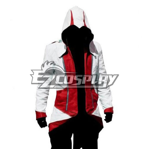 Assassin's Creed II Ezio White & Red Cosplay Hoodie