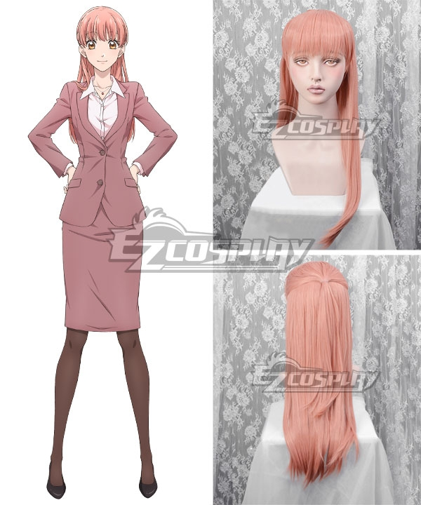 Wotakoi: Love Is Hard for Otaku Narumi Momose Pink Cosplay Wig