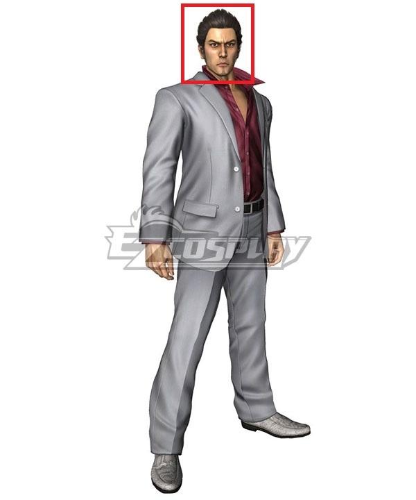 Yakuza Kazuma Kiryu Black Cosplay Wig