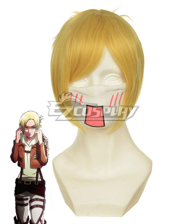 Shingeki no Kyojin Attack on Titan Annie Survey Corps Golden Cosplay Wig