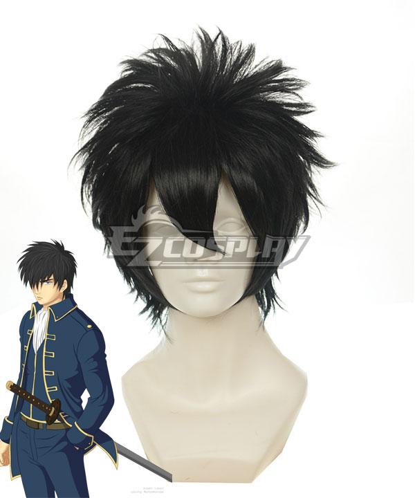 Gintama Hijikata Toushirou Black Cosplay Wig 122A