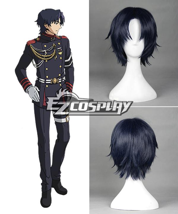 Seraph of the End Owari no Serafu Vampire Reign Guren Ichinose Ichinose Guren Short Dark Blue Cosplay Wig - 366C