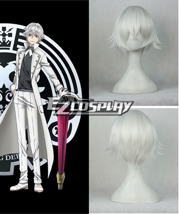 K RETURN OF KINGS Yashiro Isana Short White Cosplay Wig -306D