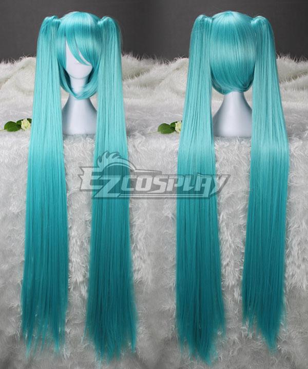 Vocaloid Oiran Hatsune Miku Water Blue Cosplay Wig 042I