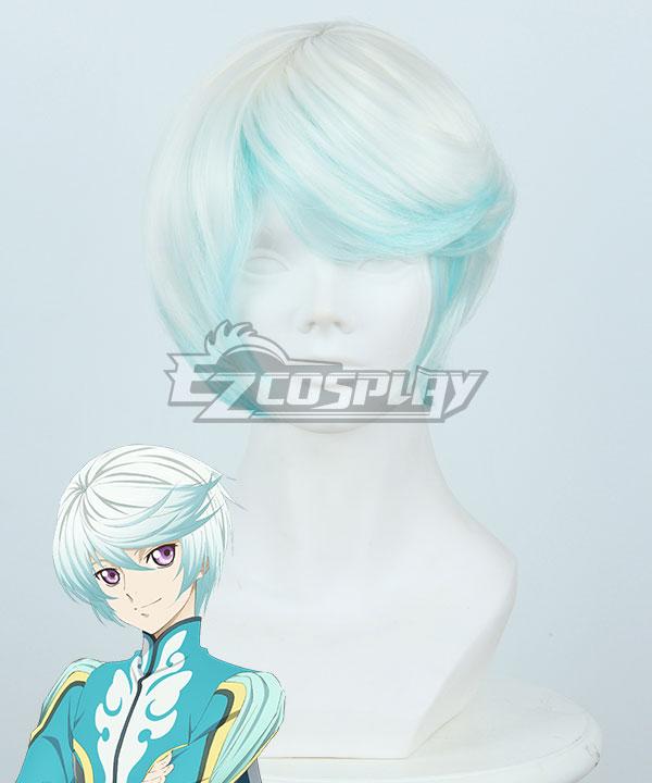 Tales of Zestiria the X Mikleo White Blue Cosplay Wig 414B
