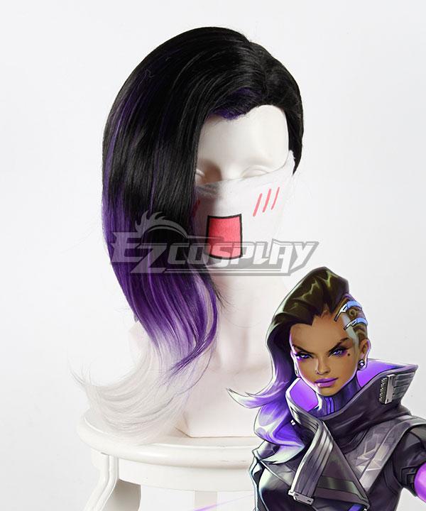 Overwatch OW Sombra â–'â–'â–'â–'â–'â–' Black Purple Cosplay Wig