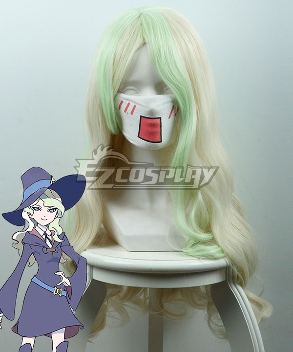 Little Witch Academia Diana Cavendish Golden Green Cosplay Wig