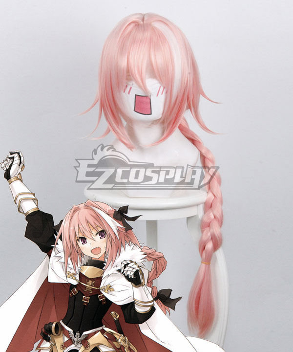 Fate Apocrypha Rider of Black Astolfo Pink Cosplay Wig 235L